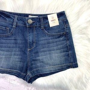NWT🤩I•SO•I Hi-Rise Shortie Jean Shorts 26x2.5